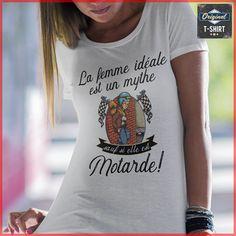 Moto Les Meilleures Deviennent Motardes T-Shirt Premium Femme
