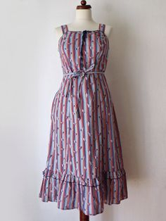 Vintage 1970's Sundress  Dress with von PaperdollVintageShop, €29,90
