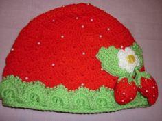 Strawberry hat crocheted Children's hat crochet hat by Anishop