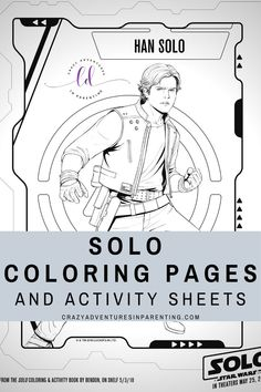 Free printable SOLO: A STAR WARS STORY Coloring Pages and Activity Sheets!  #hansolo #solo #starwars #soloastarwarsstory #coloringpages #activitysheets #starwarscoloringpages #starwarsactivitypack #starwarsactivitysheets #printables #activitypack #coloringsheets #games #diy #crafts #coloring #printable #distancelearning #freeeducationresourcesforkids #homeschooling #freeprintablesforkids #freeworksheetsforkids Free Disney Coloring Pages, Free Printable Coloring Pages, Arts And Crafts Projects, Projects For Kids, Diy Crafts, Free Worksheets For Kids, Activity Sheets For Kids, Disney Printables, Color Activities