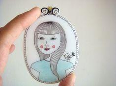 Coocachoo's shrink plastic brooch