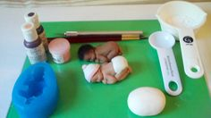 how to make a gum past or fondant baby with a mold