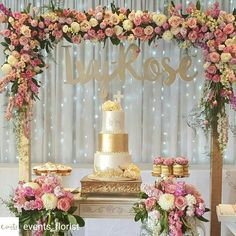 Engagement Decorations, Wedding Decorations, Wedding Cake Designs, Wedding Cakes, Wedding Cake Backdrop, Candy Table, Wedding Pinterest, Birthday Decorations, Event Decor