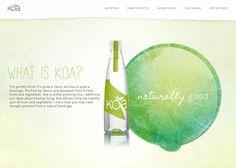 koa organic water #webdesign #inspiration #UI