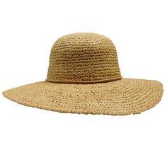 Paris - Crochet Raffia Summer Hat - Natural