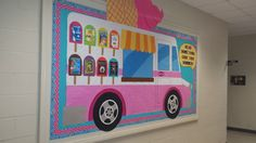 Ice Cream Truck Bulletin Board