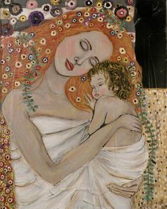 I wrote a paper on this painting and how I felt it reflected my daughter Cecilia and I. I would love to have a very large print of painting of this one day. - Art by Gustav Klimt