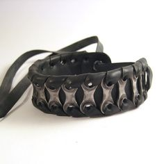 Upcycled Bike Chain Cuff by TheRecycledBicycle ((bicycle-tubes-sykkelslanger-diy-craft))