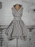 Blue Stripe Trench Dress | Blonde And Wise