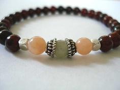 Poppy Jasper and Silver Meditation Bracelet by peaceofminejewelry, $18.00