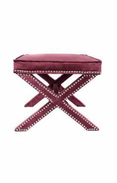 Rugs USA Ottomans Crushed Velvet X-Bench