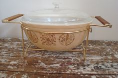 Vintage Pyrex Bowl Casserole Bowl with by VintageShoppingSpree, $40.00