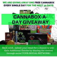 @cannabox is having an awesome contest, they're giving away a FREE box everyday! You can enter too!