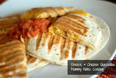 Gluten Free Cheese & Chicken Quesadillas