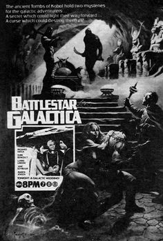 TV Guide Ad for Battlestar Galactica S01E05 (Episode 3): Lost Planet of the Gods, Part 2 (First Aired October 1, 1978)