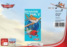 Drap de plage Planes Disney ref 198