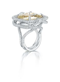 Paolo Costagli Fancy Light Yellow Diamond and Diamond Ring - Photo courtesy of Paolo Costagli