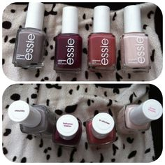 Essie chinchilly, Bahama mama, in stitches and ballet slippers