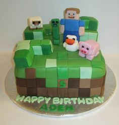 minecraft cake Pink Apron Confections Cakes Melbourne FL