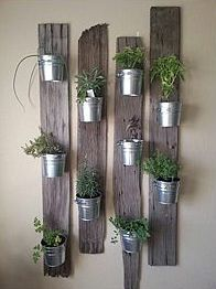 diy kitchen garden - wooden planks