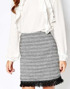 Shop New Look Tassel Hem Jacquard Mini Skirt at ASOS. New Look, Fashion Online, Tassels, Asos, Mini Skirts, Image, Shopping, Clothes, Outfits