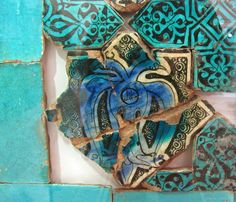 Turkish Seljuk Star Shaped Double Headed Eagle Design Tile From Kubadabad Palace Konya Double Headed Eagle, Eagle Design, Bleu Turquoise, Star Shape, Islamic Art, Art And Architecture, Palace, Empire, Ceramics