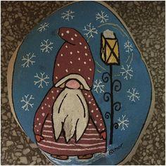 #paintstone#christmas#snow#gnome