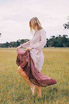 Silk Chiffon, Boho Fashion, Lavender, Dress Up, Bohemian, Skirts, How To Wear, Collection, Women