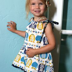 pillow case dress.  thrift pillow cases and fabric.  make a ton for the girls this summer