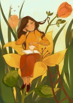 Посмотреть иллюстрацию Полина Проничкина - Дюймовочка.