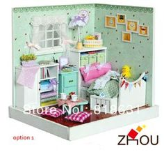 Cute DIY Handmade Dream House 3D Dollhouse Furniture Miniature Toys Puzzle Wooden Toy House Model - The Fresh House