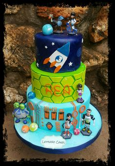 3 tier Miles from tomorrowland  cake