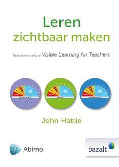 Leren zichtbaar maken - Visible Learning - John Hattie  Wat maakt de school tot een succes? Daar is veel onderzoek naar gedaan. Maar wat werkt nu echt? In het baanbrekende boek Visible Learning verwerkt John Hattie de resultaten van onderzoeken onder miljoenen leerlingen.