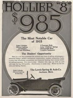 The Hollier 8 Jackson Michigan, Financial Inclusion, Made In Chelsea, Classic Mercedes, Body Electric, Shining Star, Vintage Ads, Classic Cars, Automobile