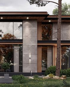 Modern Exterior House Designs, Modern House Facades, Modern Villa Design, Dream House Exterior, Modern Architecture House, Exterior Design, House Outside Design, House Front Design, Home Building Design
