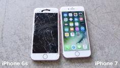 iPhone 7 bests iPhone 6s in durability drop test, survives ten foot face-down drop - blogs de iphone ipad mac android http://en.hablandodemac.net/iphone/iphone-7-bests-iphone-6s-in-durability-drop-test-survives-ten-foot-face-down-drop?utm_campaign=crowdfire&utm_content=crowdfire&utm_medium=social&utm_source=pinterest