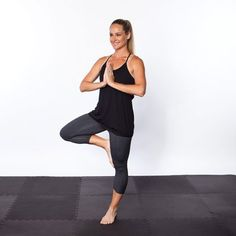 Step on the yoga mat to relieve stress, improve flexibility, and sculpt a toned tummy.