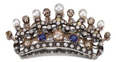 PEARL, SAPPHIRE AND DIAMOND BROOCH, LATE 19TH CENTURY