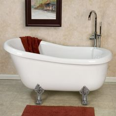 air bath claw foot tub