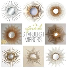 affordable vintagelook starburst sunburst mirrors