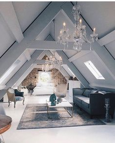 Converted attic living room #posh