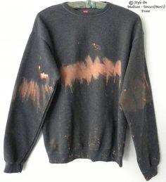 Gray  Sweatshirt  Gray crewneck sweatshirt  tie dye by Styleon, $35.USE the COUPON: SCHOLL14 for 10% off  Thru 9/5/14