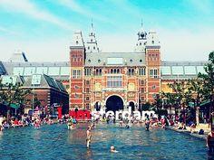 Rijksmuseum e museumplein em um dia de verão!