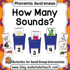 Your students will love the engaging pictures in this activity designed to teach phoneme segmentation.  Make, Take & Teach How Many Sounds? activity is perfect for teaching this skill during small group intervention.  When you download this activity, you'll receive 45 2-, 3- and 4- phoneme picture cards for sorting.