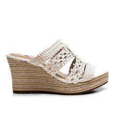 Look at this #zulilyfind! White Bermuda Wedge by Two Lips #zulilyfinds $26.99, usually 80.00