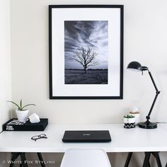 Look at this monochrome stunner! This amazing photo is 'Test of Time' by the gorgeous @alisa_lysandra with @unitedartworks. I just love how it's so striking and moody and perfect in this space. #whitefoxstyling #ALxUA