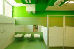 Colorful Inspiration - Kindergarten Bathroom Design in Poland - Hatane.Com