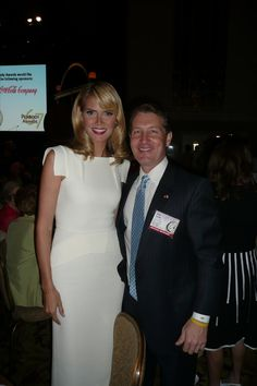 With Heidi Klume at the Peabody Awards in New York.