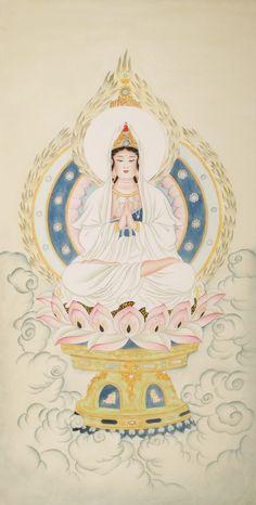 Kuan-yin Meticulous figure Chinese #painting - replica