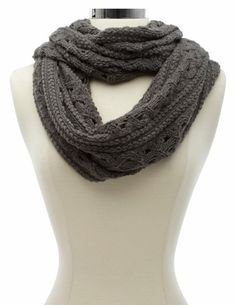 Cable Open Knit Infinity Scarf: Charlotte Russe - http://AmericasMall.com/categories/womens-wear.html